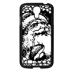 Santa Claus Christmas Holly Samsung Galaxy S4 I9500/ I9505 Case (Black)