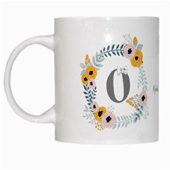 Flower Rose White Coffee Mug