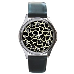 SKN1 BK-MRBL BG-LIN (R) Round Metal Watch