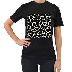 SKN1 BK-MRBL BG-LIN (R) Women s T-Shirt (Black) (Two Sided)
