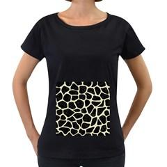 SKN1 BK-MRBL BG-LIN (R) Women s Loose-Fit T-Shirt (Black)