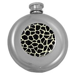 SKN1 BK-MRBL BG-LIN (R) Round Hip Flask (5 oz)