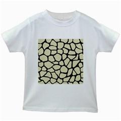 SKN1 BK-MRBL BG-LIN Kids White T-Shirts