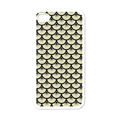 SCA3 BK-MRBL BG-LIN (R) Apple iPhone 4 Case (White)