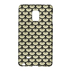 Scales3 Black Marble & Beige Linen (r) Samsung Galaxy Note Edge Hardshell Case