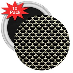 SCA3 BK-MRBL BG-LIN 3  Magnets (10 pack)