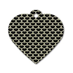 SCA3 BK-MRBL BG-LIN Dog Tag Heart (Two Sides)