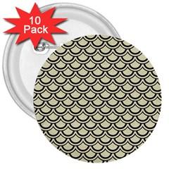 SCA2 BK-MRBL BG-LIN (R) 3  Buttons (10 pack)