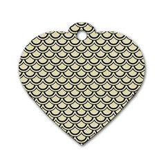 SCA2 BK-MRBL BG-LIN (R) Dog Tag Heart (Two Sides)