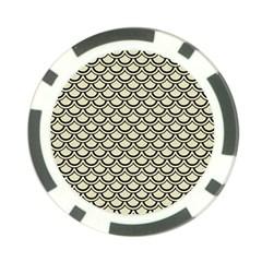 SCA2 BK-MRBL BG-LIN (R) Poker Chip Card Guard