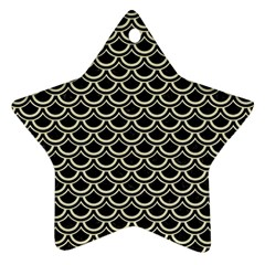 SCA2 BK-MRBL BG-LIN Star Ornament (Two Sides)
