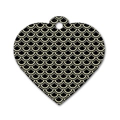 SCA2 BK-MRBL BG-LIN Dog Tag Heart (Two Sides)