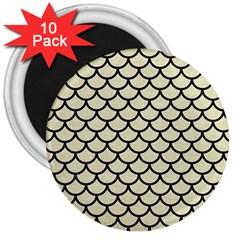 SCA1 BK-MRBL BG-LIN (R) 3  Magnets (10 pack)