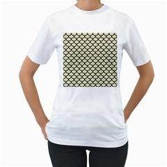 SCA1 BK-MRBL BG-LIN (R) Women s T-Shirt (White)