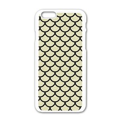 SCA1 BK-MRBL BG-LIN (R) Apple iPhone 6/6S White Enamel Case