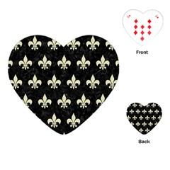 RYL1 BK-MRBL BG-LIN (R) Playing Cards (Heart)