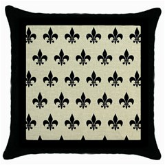 RYL1 BK-MRBL BG-LIN Throw Pillow Case (Black)