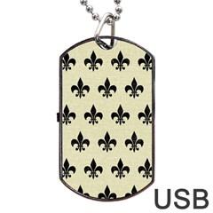 RYL1 BK-MRBL BG-LIN Dog Tag USB Flash (One Side)