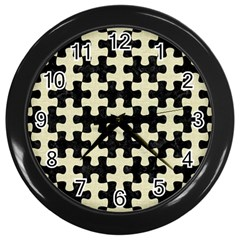 PUZ1 BK-MRBL BG-LIN Wall Clocks (Black)