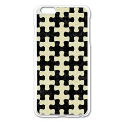 PUZ1 BK-MRBL BG-LIN Apple iPhone 6 Plus/6S Plus Enamel White Case
