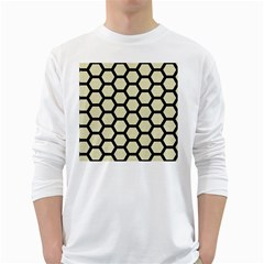 HXG2 BK-MRBL BG-LIN (R) White Long Sleeve T-Shirts