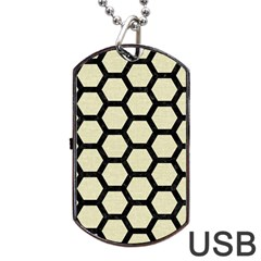 HXG2 BK-MRBL BG-LIN (R) Dog Tag USB Flash (Two Sides)
