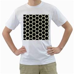HXG2 BK-MRBL BG-LIN Men s T-Shirt (White) (Two Sided)