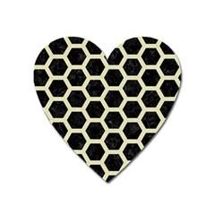 HXG2 BK-MRBL BG-LIN Heart Magnet