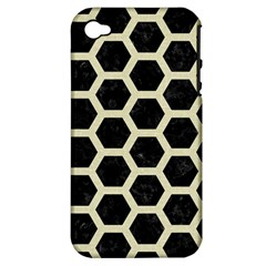 HXG2 BK-MRBL BG-LIN Apple iPhone 4/4S Hardshell Case (PC+Silicone)