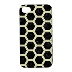 HXG2 BK-MRBL BG-LIN Apple iPhone 4/4S Hardshell Case with Stand