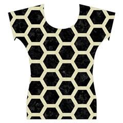 HXG2 BK-MRBL BG-LIN Women s Cap Sleeve Top