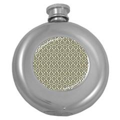 HXG1 BK-MRBL BG-LIN (R) Round Hip Flask (5 oz)