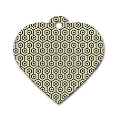 HXG1 BK-MRBL BG-LIN (R) Dog Tag Heart (One Side)
