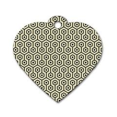 HXG1 BK-MRBL BG-LIN (R) Dog Tag Heart (Two Sides)