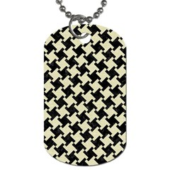 HTH2 BK-MRBL BG-LIN Dog Tag (Two Sides)