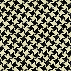 Houndstooth2 Black Marble & Beige Linen Magic Photo Cube