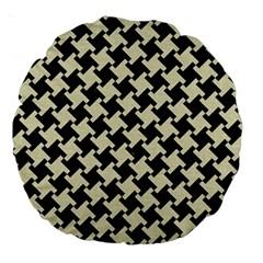 HTH2 BK-MRBL BG-LIN Large 18  Premium Round Cushions