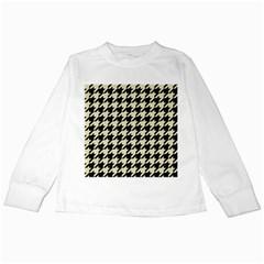 HTH1 BK-MRBL BG-LIN Kids Long Sleeve T-Shirts