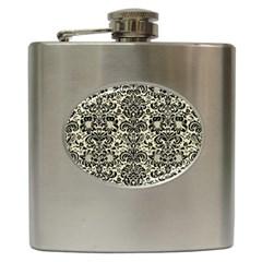 DMS2 BK-MRBL BG-LIN (R) Hip Flask (6 oz)