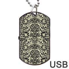 DMS2 BK-MRBL BG-LIN (R) Dog Tag USB Flash (One Side)