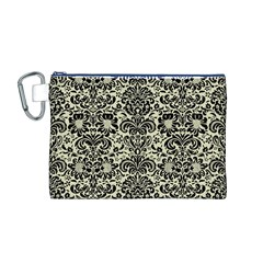 DMS2 BK-MRBL BG-LIN (R) Canvas Cosmetic Bag (M)