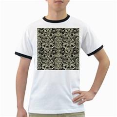 DMS2 BK-MRBL BG-LIN Ringer T-Shirts