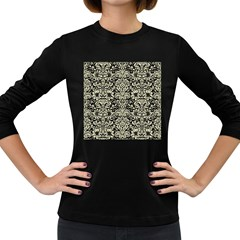 DMS2 BK-MRBL BG-LIN Women s Long Sleeve Dark T-Shirts