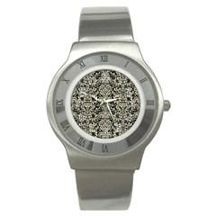 DMS2 BK-MRBL BG-LIN Stainless Steel Watch