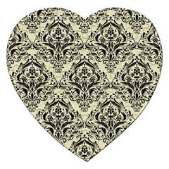 DMS1 BK-MRBL BG-LIN (R) Jigsaw Puzzle (Heart)