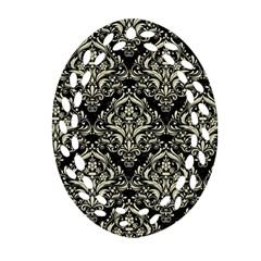 DMS1 BK-MRBL BG-LIN Ornament (Oval Filigree)