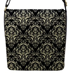 DMS1 BK-MRBL BG-LIN Flap Messenger Bag (S)
