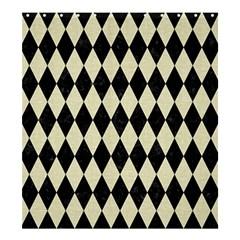 DIA1 BK-MRBL BG-LIN Shower Curtain 66  x 72  (Large)