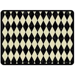 DIA1 BK-MRBL BG-LIN Fleece Blanket (Large)