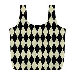 DIA1 BK-MRBL BG-LIN Full Print Recycle Bags (L)